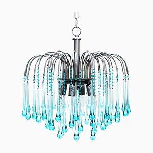 Murano Glass Waterfall Chandelier by Paolo Venini, 1960s