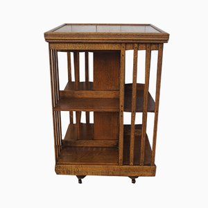 Antique Oak Revolving Shelf