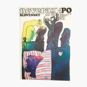 Infidelity Slovak Style Movie Poster by Milan Veselý, 1981