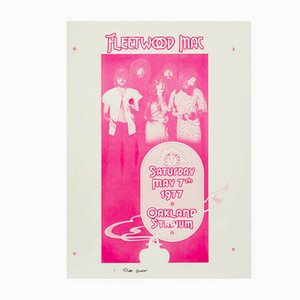 Fleetwood Mac Concert Poster by Randy Tuten, William Bostedt, 1977