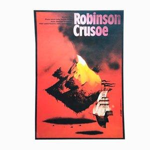 Robinson Crusoe Movie Poster by Zdeněk Vlach, 1980s