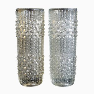 Glass Vases, 1960s, Set of 2