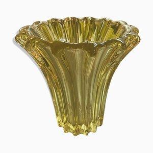 Vase en Cristal par Pierre d'Avesn, années 50