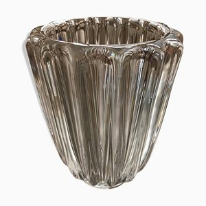 Crystal Vase by Pierre d'Avesn, 1950s