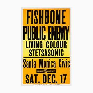 Póster de concierto Public Enemy and Fishbone, 1988