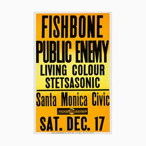 Poster del concerto Public Enemy and Fishbone, 1988