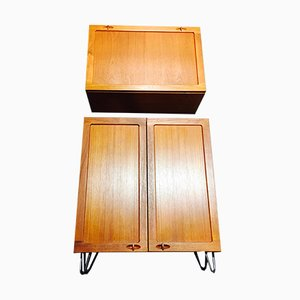 Desk and Modular Cupboards Set by H. W. Klein for Bramin, 1950s