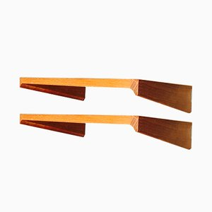 Scandinavian Shelves by Kai Kristiansen, 1950s, Set of 2