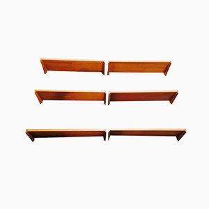 Scandinavian Shelves by Kai Kristiansen, 1950s, Set of 6