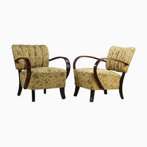 Art Deco 237 Armchairs by Jindřich Halabala for UP Závody, 1930s, Set of 2