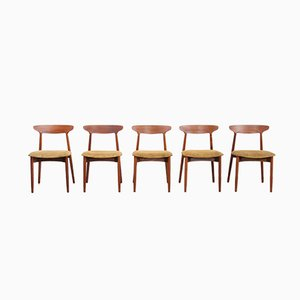 59 Dining Chairs by Harry Østergaard for Randers Møbelfabrik, 1960s, Set of 5