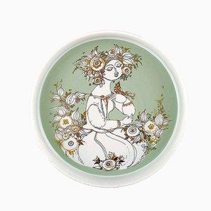 Cuenco de porcelana de Bjørn Wiinblad para Rosenthal, años 70