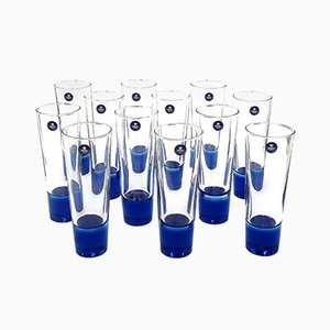 Beer Glasses by Anja Kjaer for Holmegaard, 1990s, Set of 12