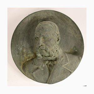 Antike Reliefskulptur aus Bronze von Urbano Bottasso