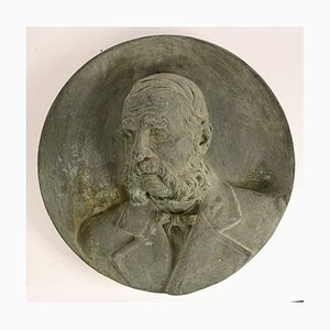 Antique Bronze Relief Sculpture by Urbano Bottasso