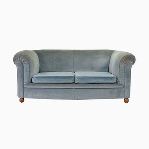French Velvet 2-Seat Sofa, 1950s