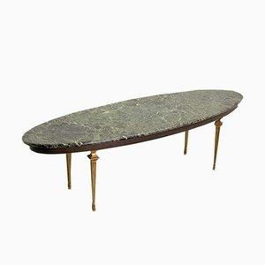 Table Basse en Marbre et Laiton, France, années 50