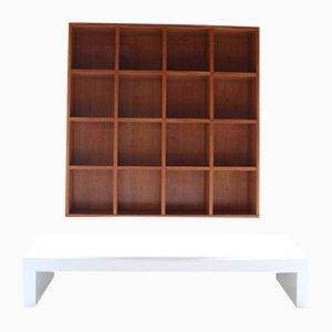 Libreria Quadrata con tavolino di Pietro Meccani per Meccani Design