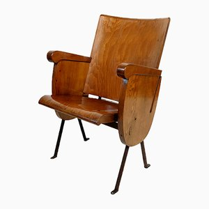Mid-Century French Old Cinema Seat