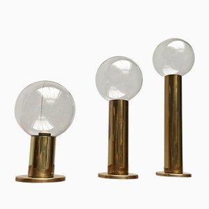 Vintage Space Age Deckenlampen von Motoko Ishii für Staff, 3er Set