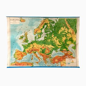 Mid-Century Europe School Map by Seix Barral