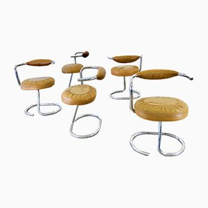 Table and Cobra Chairs Set by Giotto Stoppino, 1970s