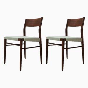 Chaises de Salle à Manger 351 en Teck par Georg Leowald pour Wilkhahn, années 50, Set de 2