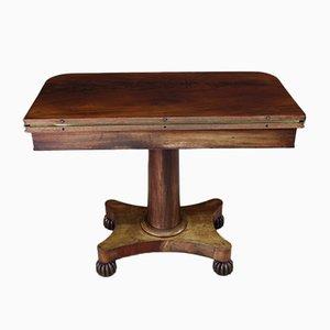 Tavolo da gioco antico in mogano