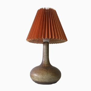 Vintage Danish Stoneware Table Lamp from Würtz