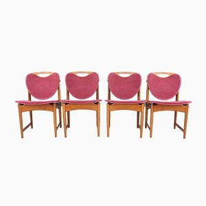 Danish Dining Chairs by Arne Hovmand-Olsen, 1960s, Set of 4