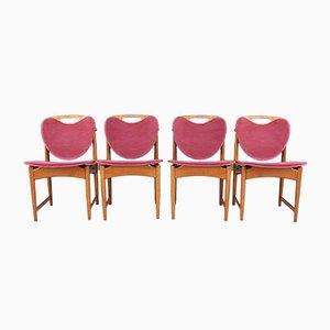 Sillas de comedor danesas de Arne Hovmand-Olsen, años 60. Juego de 4
