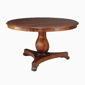 Mesa de comedor victoriana antigua de caoba