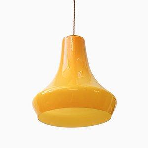 Gelbe Mid-Century Deckenlampe aus Glas
