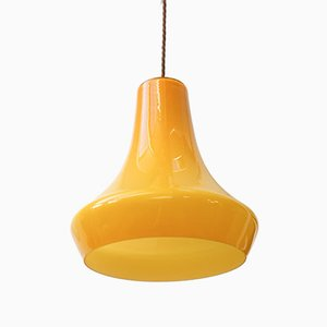 Mid-Century Yellow Glass Ceiling Lamp