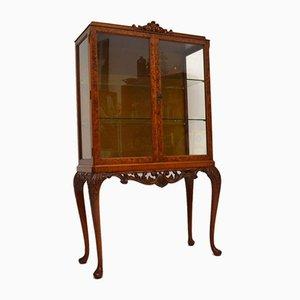 Burr Walnut Display Cabinet, 1920s