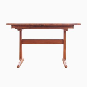 Scandinavian Teak Extendable Dining Table from Dyrlund, 1960s