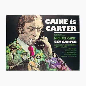 Vintage Get Carter Quad Movie Poster by Arnaldo Putzu , 1971