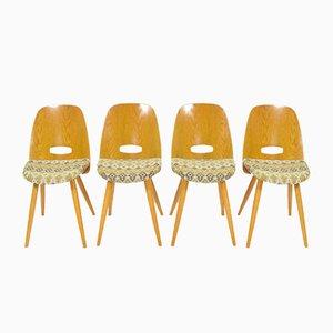 Modell Lollypop Esszimmerstühle von František Jirák für Tatra, 1960er, 4er Set