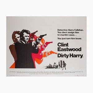 Affiche de Film Dirty Harry UK Quad Vintage, 1971