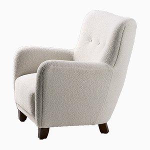 Dänischer Sessel mit Wollbezug von FDB, 1950er