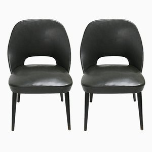 Small Mid-Century Italian Lounge Chairs, 1960s, Set of 2