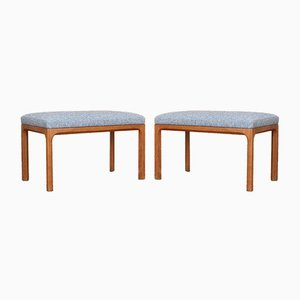 Oak Model 382 Stools from Aksel Kjersgaard, 1950s, Set of 2