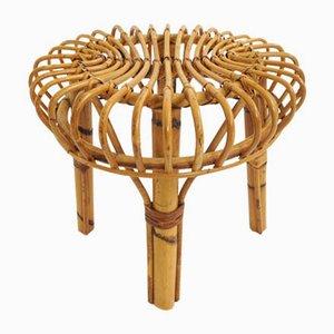 Taburete italiano de bambú, años 60