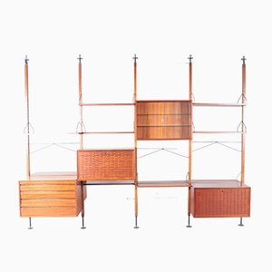 Estante de pared modular de Poul Cadovius para Cado, años 50
