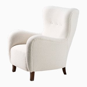 Danish Wool Wing Chair from Christian Sorensen, 1940s