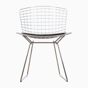 White Leather Side Chair by Harry Bertoia for Knoll Inc. / Knoll International, 1970s