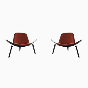 CH 07 Lounge Chairs by Hans J. Wegner for Carl Hansen & Søn, 2000s, Set of 2
