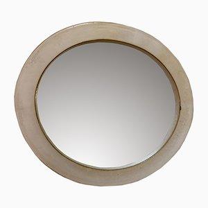 Mid-Century Stoneware Ceramic Mirror