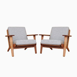 Model GE290 Lounge Chairs by Hans J. Wegner for Getama, 1950s, Set of 2