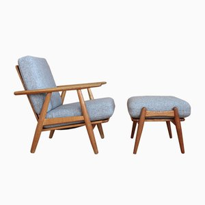 Oak Model GE240 Cigar Lounge Chairs by Hans J. Wegner for Getama, 1950s, Set of 2